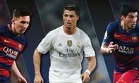Messi, Ronaldo, Suarez cạnh tranh Cầu thủ xuất sắc nhất châu Âu 2015