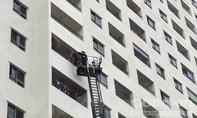 Cháy lớn tại chung cư HH4a Linh Đàm