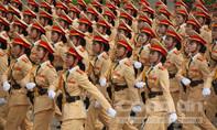 Những bóng hồng trong lễ diễu binh,  diễu hành
