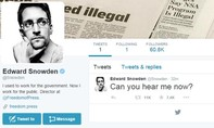 Cựu nhân viên tình báo Edward Snowden mở tài khoản Twitter