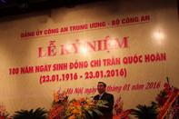 Lễ kỉ niệm 100 năm ngày sinh cố Bộ trưởng Bộ công an Trần Quốc Hoàn