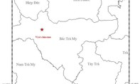 Động đất 3,7 độ richter ở khu vực Bắc Trà My