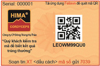 Đông trùng hạ thảo HIMA chính thức sử dụng tem chống hàng giả