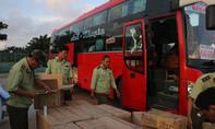 Trạm CSGT Thăng Bình liên tiếp bắt hàng lậu dịp cận Tết Nguyên đán