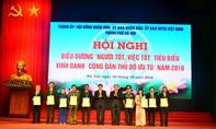 Vinh danh 9 công dân Thủ đô ưu tú năm 2016