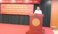 Thành ủy thông báo kết quả hội nghị lần thứ tư Ban chấp hành trung ương Đảng khóa XII