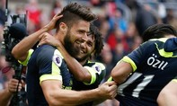 'Chân gỗ' toả sáng, Arsenal dẫn đầu BXH Ngoại hạng Anh