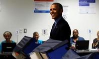 Ông Obama đi bỏ phiếu bầu tổng thống sớm