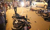 Bốn xe máy tông nhau ở Bình Dương, 3 người thương vong