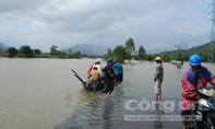 Mưa lớn làm một số tuyến đường xã Đại Lãnh bị ngập nước