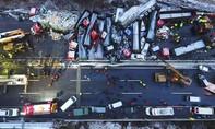 Hiện trường vụ tai nạn 56 ôtô tông liên hoàn trên cao tốc Bắc Kinh - Côn Minh