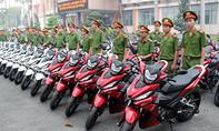Bình Dương trang bị 100 xe môtô cho công an để trấn áp tội phạm