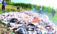 Tiêu huỷ hơn 87.000 bao thuốc lá nhập lậu