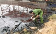 Công ty sản xuất gạch men xả thải ra sông Thị Vải