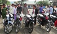 Trao trả 26 chiếc xe máy trong vụ trộm cắp liên tỉnh