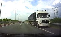 Container lưu thông ngược chiều trên cao tốc TP.HCM - Long Thành - Dầu Giây