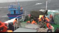 Tàu Cảnh sát biển cứu 6 ngư dân Bình Định gặp nạn