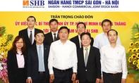 Bí thư Thành uỷ TPHCM Đinh La Thăng thăm và làm việc với ngân hàng SHB