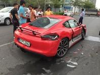 Porsche Cayman GTS gặp nạn trong buổi trải nghiệm xe tại TP.HCM