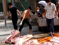 Chặn một tấn thịt heo hôi thối, nghi nhiễm chất cấm gây ung thư