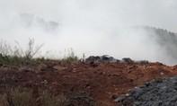 Đổ trộm chất thải rồi đốt gây ô nhiễm môi trường