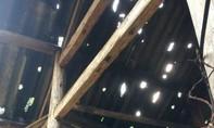 Clip: Mưa đá cực khủng làm nhiều mái nhà hư hại