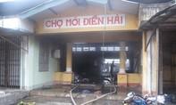 Chợ Điền Hải cháy dữ dội lúc sáng sớm