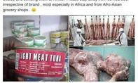 Trung Quốc bác cáo buộc xuất khẩu…thịt người