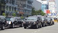 Hình ảnh công tác chuẩn bị đón Tổng thống Obama tại sân bay Tân Sơn Nhất