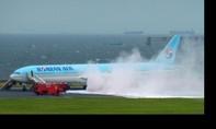 Máy bay Korean Air bốc cháy, 7 người bị thương