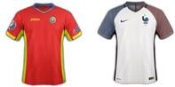 Màu áo của Pháp và Roumanie trong trận đấu mở màn EURO 2016