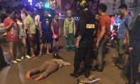 Chạy trốn cảnh sát cơ động, một thanh niên tông xe nguy kịch