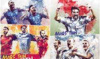 Poster 'hầm hố' của 24 đội bóng tham dự Euro 2016