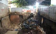 Công trình xây dựng gây lún đường, hàng chục người dân ra khách sạn ngủ