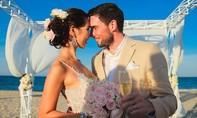 Vợ chồng siêu mẫu Hà Anh đi trực thăng trong hôn lễ