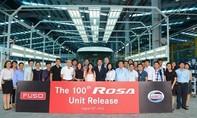 FUSO ROSA xuất xưởng chiếc xe khách thứ 100