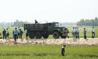 Hiện trường vụ rơi máy bay quân sự ở Phú Yên