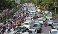 Giao thông thành phố ùn tắc nhiều nơi vào chiều 1-9