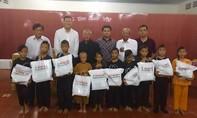 Báo CATP tặng quà trung thu cho trẻ em mồ côi Tây Ninh