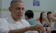 Xem clip Tổng thống Mỹ Obama ăn bún chả ở Hà Nội trên CNN