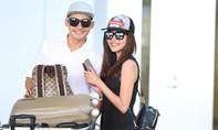 Lương Thế Thành nắm chặt tay vợ, tình tứ ở sân bay