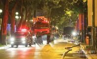 Cháy nhà khu trung tâm, nhiều tuyến đường bị phong tỏa