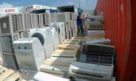 Hàng trăm máy lạnh nhập lậu trong 3 container ở cảng Hiệp Phước
