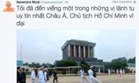 Thủ tướng Narendra Modi liên tục cập nhật thông tin chuyến thăm Việt Nam trên mạng xã hội