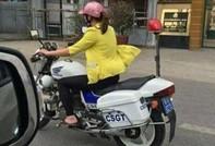 Cô gái lái mô tô CSGT là... thợ sửa xe