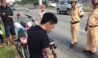 CSGT thành phố bắt nhóm đua xe sáng mồng 1 Tết