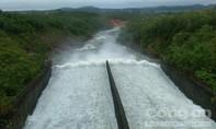 Hồ Kẻ Gỗ bắt đầu xả lũ với lưu lượng 100m3/s