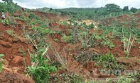 Tình trạng nứt, sạt lở đất ở xã Đạ Đờn ngày càng trầm trọng