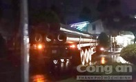 Xe tải hàng chục tấn chạy ngược chiều ở TP Vĩnh Long