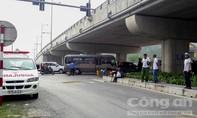 Xe tải tông xe máy, 2 cha con tử vong